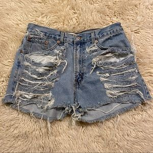 Levi's vintage cut off 505 high waisted shorts